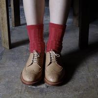 """靴下 """"itchy feet"""" -Red"""
