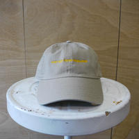seesaw cap beige (yellow embroidery)
