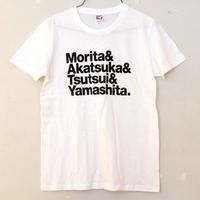 森田一義文化圏Tシャツ ホワイト