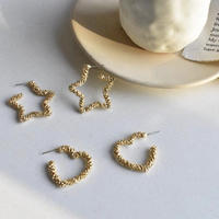 【送料込】Silver925 earring ♡&☆