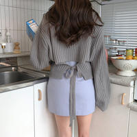 【order only/送料込】back ribbon knit