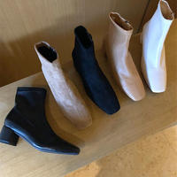 【order only】square toe short boots