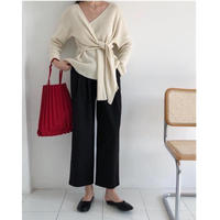 【即納】soft knit tops(off whiteのみ)