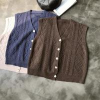 【即納/送料込】retro  knit vest