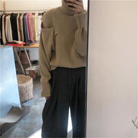 【Fanal sale/2,500】Open shoulder knit