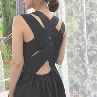 back cross long one-piece