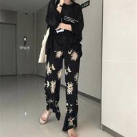 flower front pants