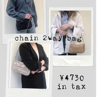 chain 2way bag