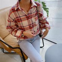 【即納】big check shirt