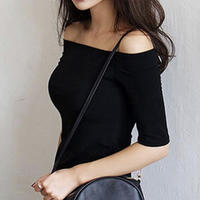 off shoulder half tops