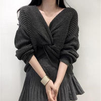 【即納】twist short knit