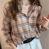 送料込/check shirt
