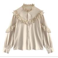 【即納/送料込】frill blouse