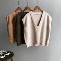 simple V neck vest