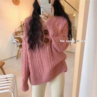 【Fanal sale/2,500】front Vneck knit(pink)