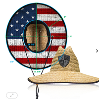 麦わら帽子<アメリカンフラッグ>