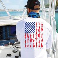 パフォーマンス ロングスリーブシャツ<アメリカンフラッグ-フィッシュ>