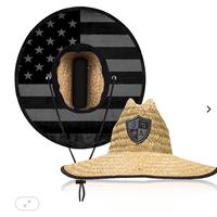 麦わら帽子<アメリカンフラッグブラック>