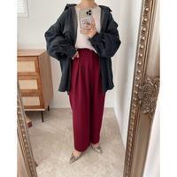 《AMIE original》 tuck pants / burgundy