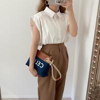 【ゆうパケット◎】ボックスシルエットshirt ホワイト