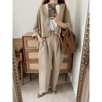 【ゆうパケット◎】ショート丈shirt/beige