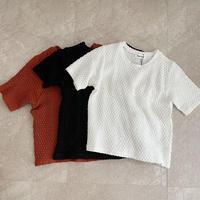 【ゆうパケット◎】カットレース 半袖 Tshirt/3color