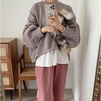 バルキー 短丈 knit / Greige