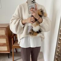 バルキー 短丈 knit / IVORY