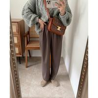 《AMIE original》 tuck pants / moca