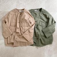バイオ加工ワークシャツjacket 2color