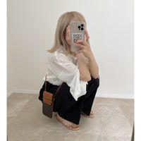 《AMIE original》プリーツpants ブラック
