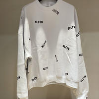 Selection of life. SLCTN Patterned Crew Sweat WHITE