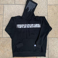 Selection of life. Brand Name TAPE Hoodie Black