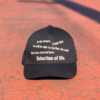 Selection of life. Mesh Cap Black