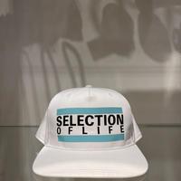 Selection of life. Bold Line LOGO Cap WHITE