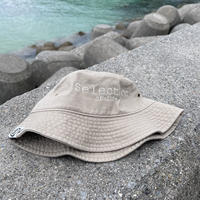 Selection of life. Brand LOGO Bucket Hat SAND