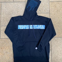 Selection of life. Brand Name TAPE Hoodie Navy