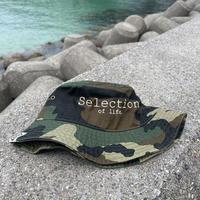 Selection of life. Brand LOGO Bucket Hat CAMO