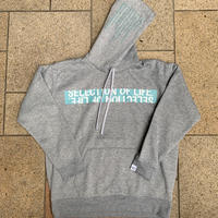 Selection of life. Brand Name TAPE Hoodie Gray