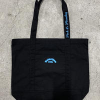 Selection of life. Reflector Tote Bag Black×Light Blue