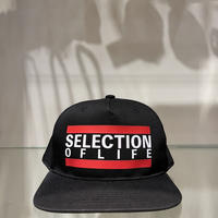 Selection of life. Bold Line LOGO Cap BLACK