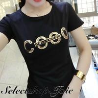【White Sサイズ即納】COCOロゴTシャツ 2色展開