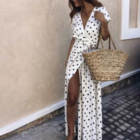 Long Dot Dress