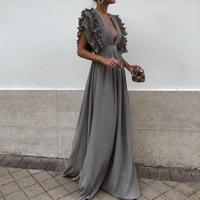 Bohemian V Neck Party Dress