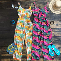 back cross tropical rompers