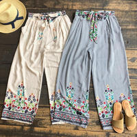 front ribbon relax pants