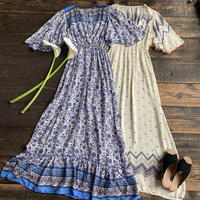 flare sleeve long one-piece