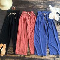 hemp cord wide pants
