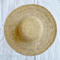 Madagascar raffia watermark knitting hat