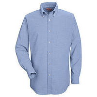 RED KAP Men's Button-Down Solid Shirt ( Light Blue )